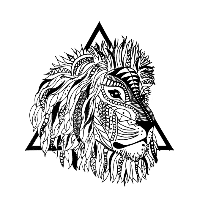 Chouette tatouage reggae ou un tatou lion chinois tattoo lion tattoo art tribal triangle tatou lion tete