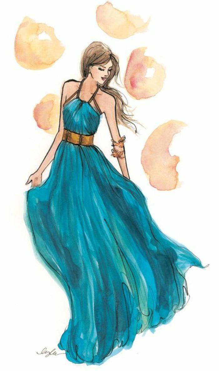 Comment dessiner fille manga art fille garçon dessin comment dessiner une fille simple longue robe mode