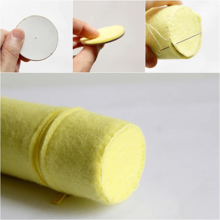 tuto de couture facile pour réaliser une trousse à crayons, bricolage rouleau papier toilette pour la rentrée