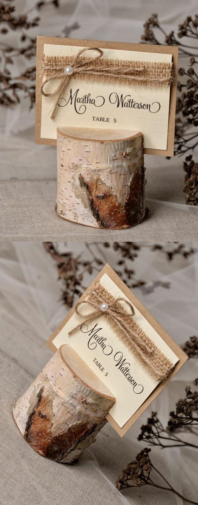 Idée marque place a imprimer et porte menu mariage champetre