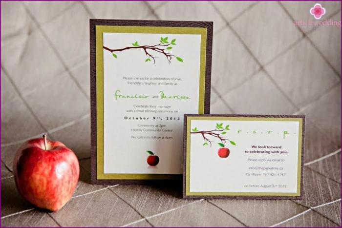 Choisir le mariage disney faire part mariage romantique pomme