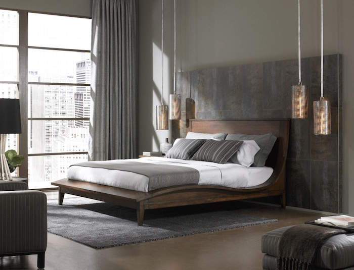 chambre hotel luxe new york deco style bedroom grise