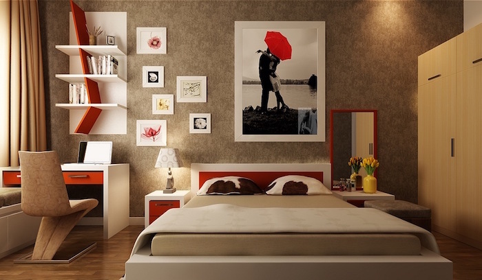 Stunning Deco Chambre Taupe Et Rouge Ideas - Design Trends 2017 ...
