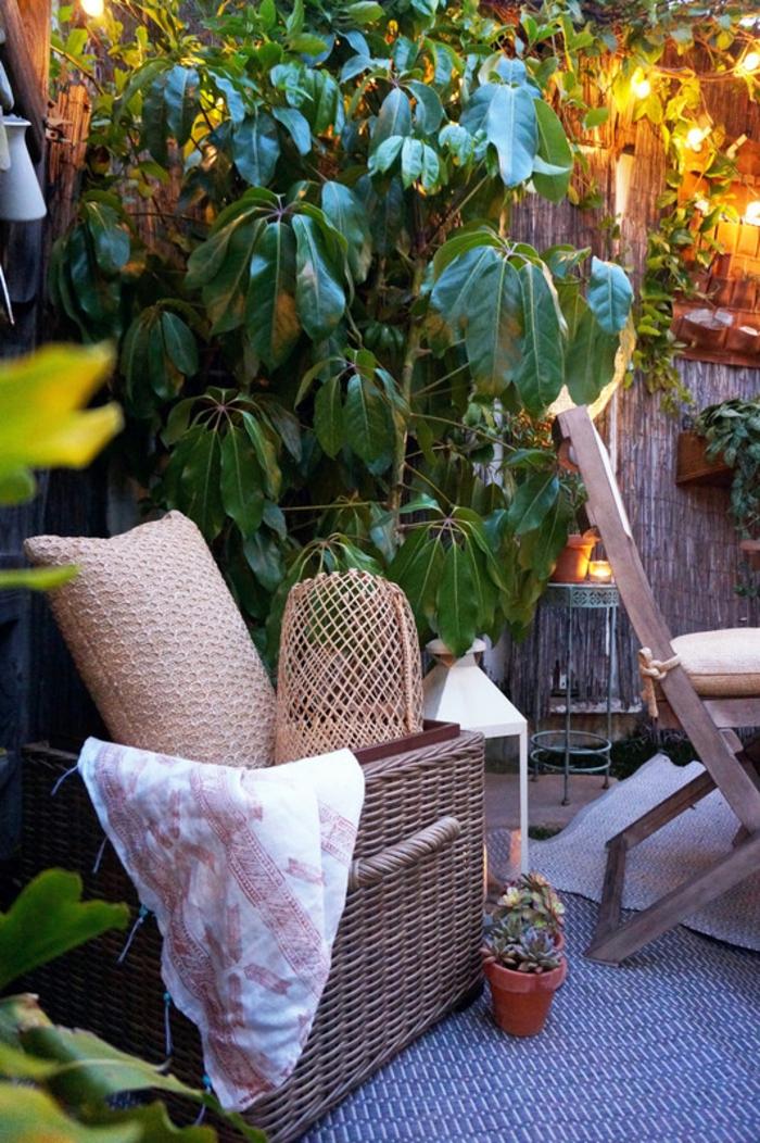 comment aménager son jardin dans un style boho avec des meubles IKEA