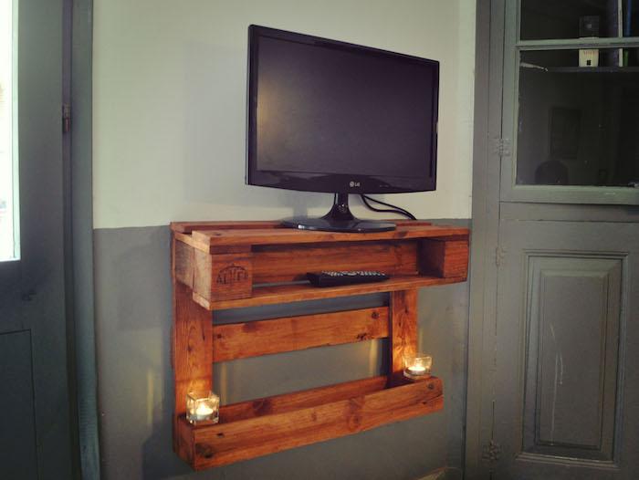 Connu ▷ 1001+ idées | Meuble TV palette – Le recyclage en chaîne OQ45