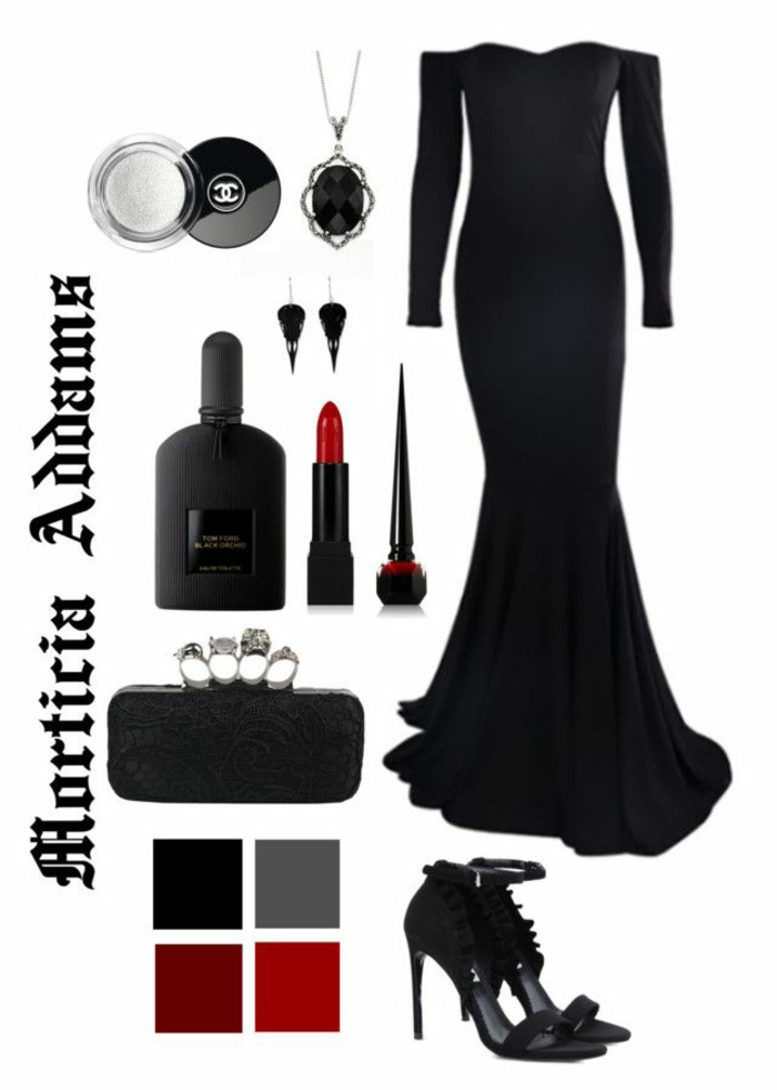 Comment se deguiser cette année idée de morticia de la famille adams les accessoires de Morticia