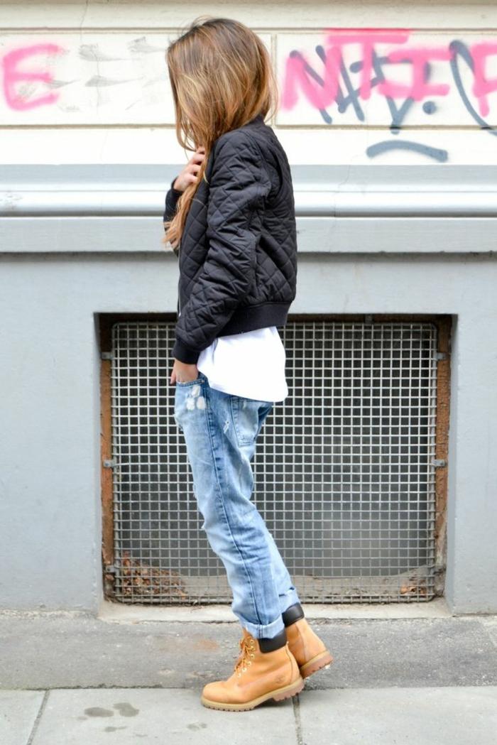 Comment porter des bottines associé comment porter le jean boyfriend