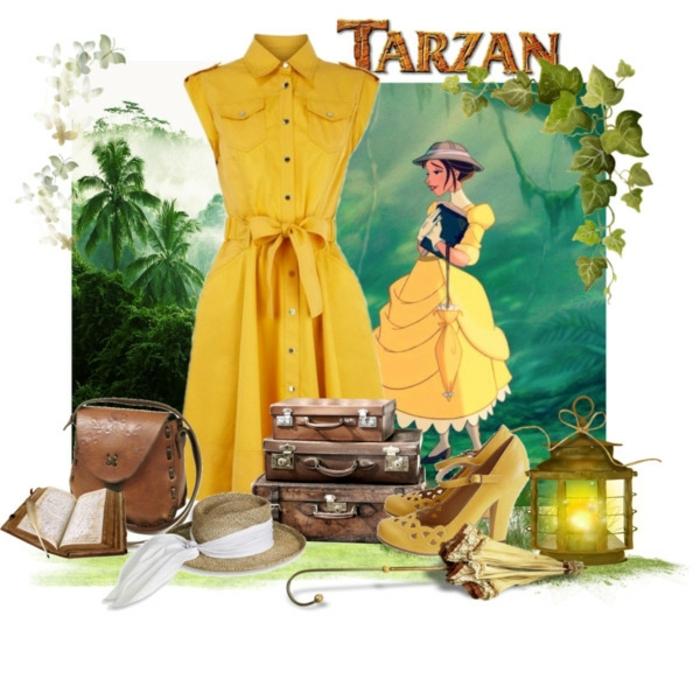 Vetement saharienne jupe chemise robe saharienne beige s habiller comme Jane de Tarzan