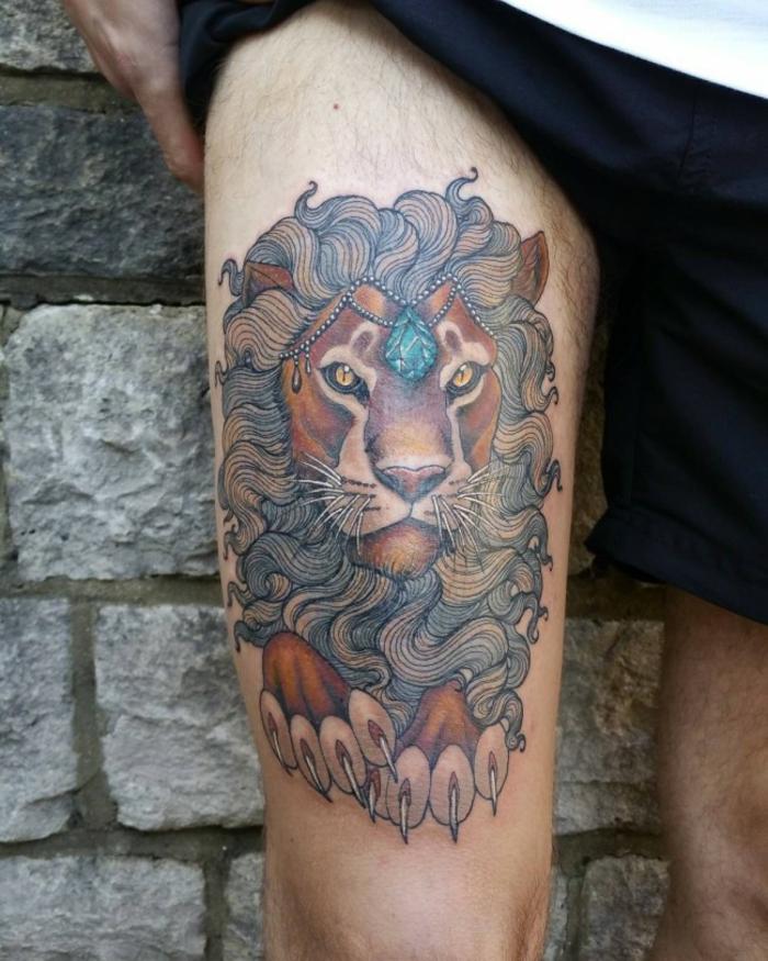 f98f31035 1001 + idées en photos de tatouage lion - inspirez-vous de l'art des ...