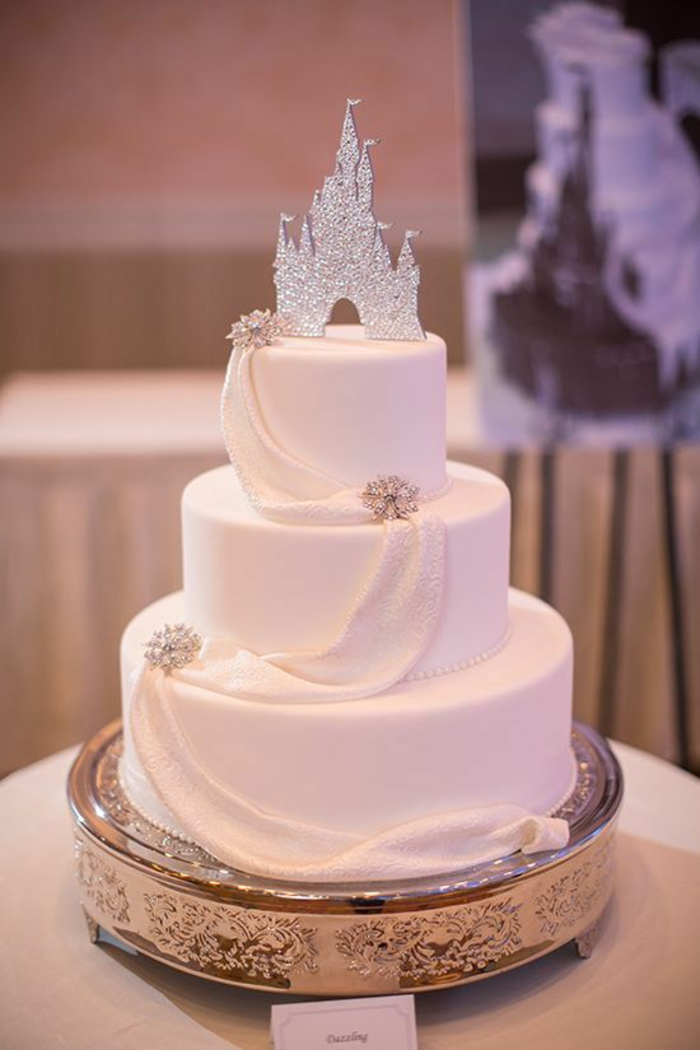 wedding cake simple ideas 1001 id 233 es pour la d 233 coration du g 226 teau princesse 24564