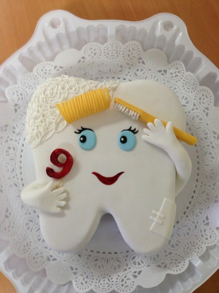 recette de gateau d anniversaire en forme de dent pour un petit de 9 ans