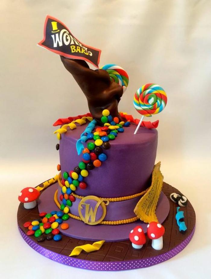 recette de gateau d anniversaire Wonga chapeau de magicien avec des sucreries