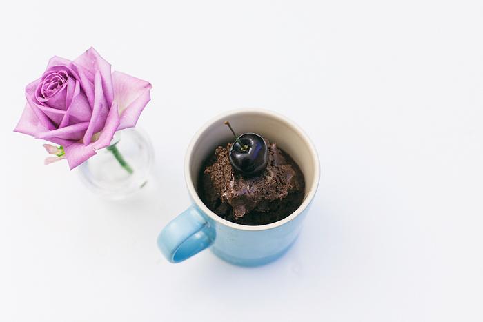 recette facile et rapide de gateau dans une tasse sans gluten