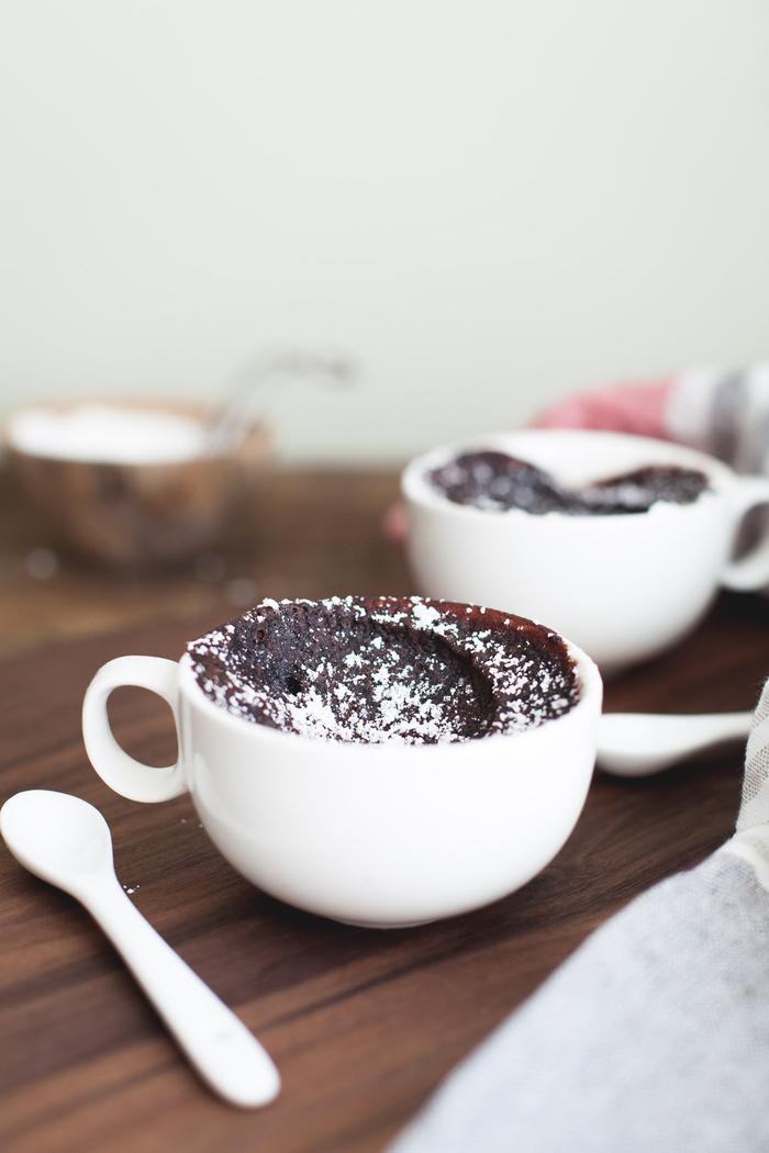 recette gourmande de mochi en mug cake fondant chocolat au coeur coulant
