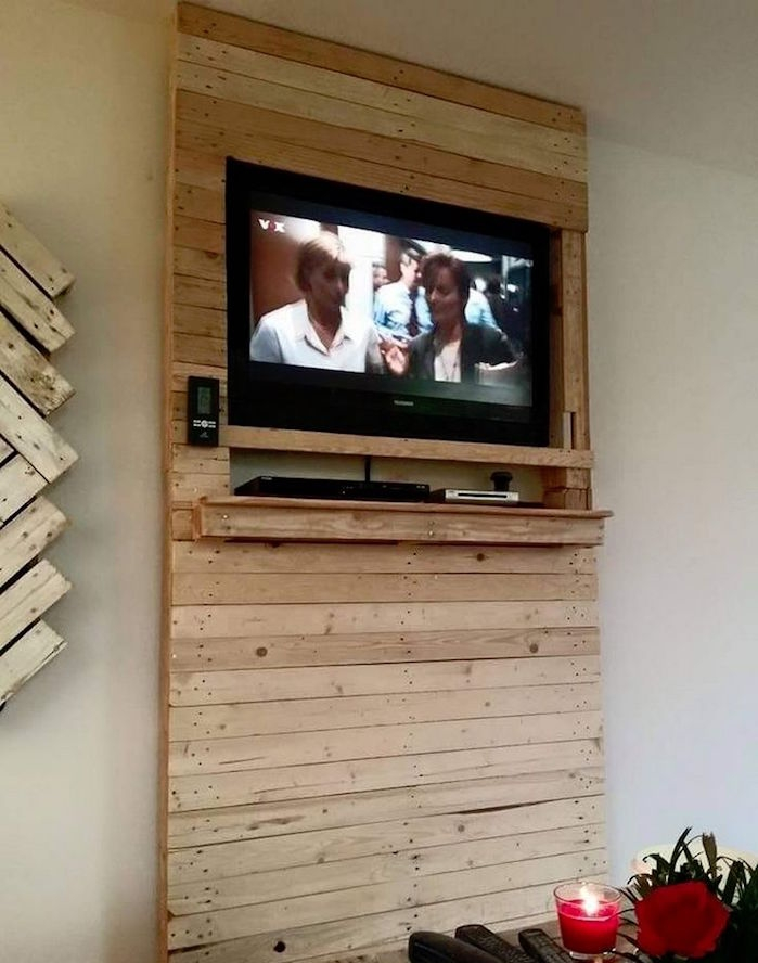 meuble tv mural en bois sammlung von design. Black Bedroom Furniture Sets. Home Design Ideas