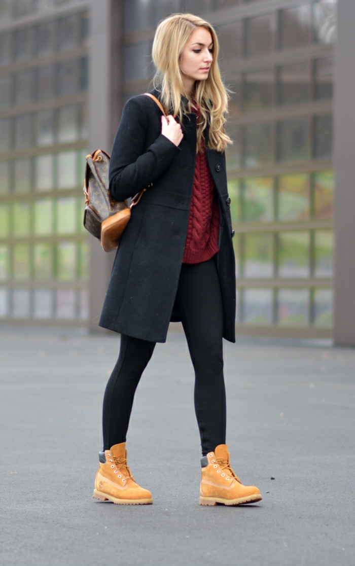 tenue avec bottes timberland