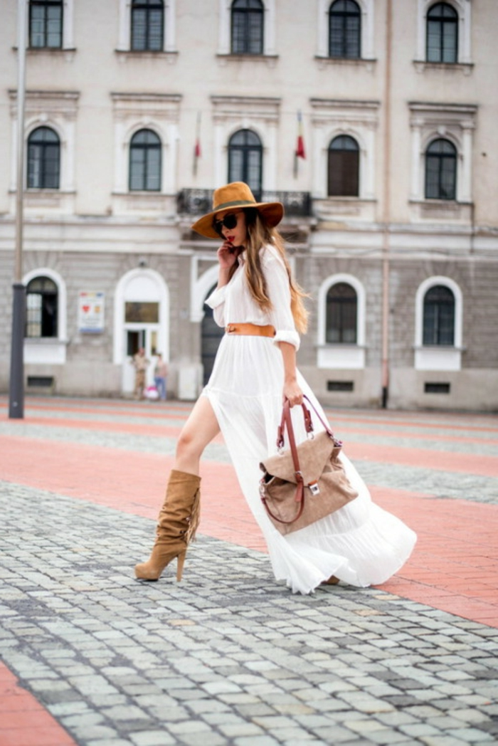 Décontractée robe saharienne beige saharienne vetement robe blanche longue