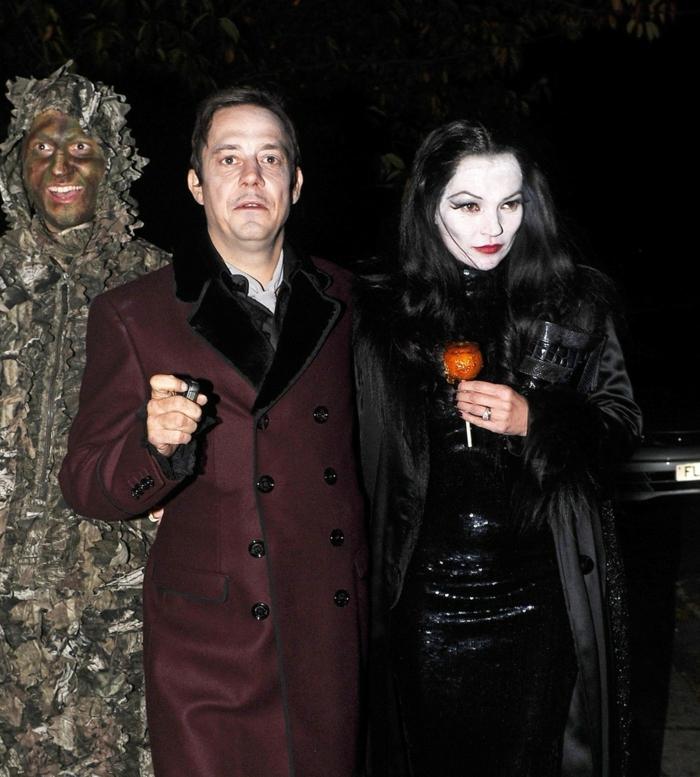 Nail art et maquillage mortitia adams family famille adams déguisement Morticia et Gomez addams