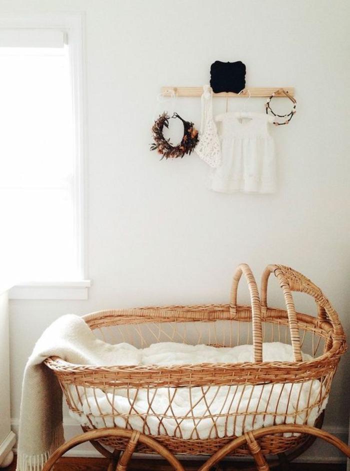 cadeau de naissance original lit en bambou tressé pour bébé solution écolo ambiance nature