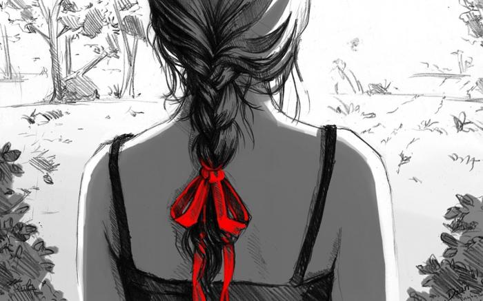 Beau dessin d une fille dessiner tete de fille dessin a imprimer fille tresse rubin rouge cool idée peinture