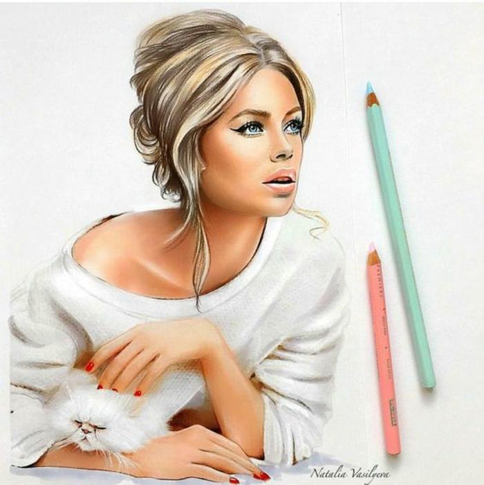 1001 images pour le dessin fille parfait des id es pour d velopper son cr ativit - Fille ado belle ...