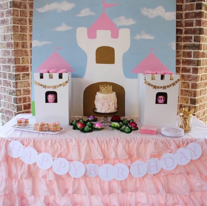 Princesse chateau moule poupee recette gateau princesse facile chateau table anniversaire décoration