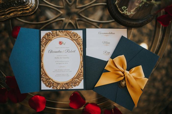 Vintage faire part conte de fée invitation mariage theme princesse