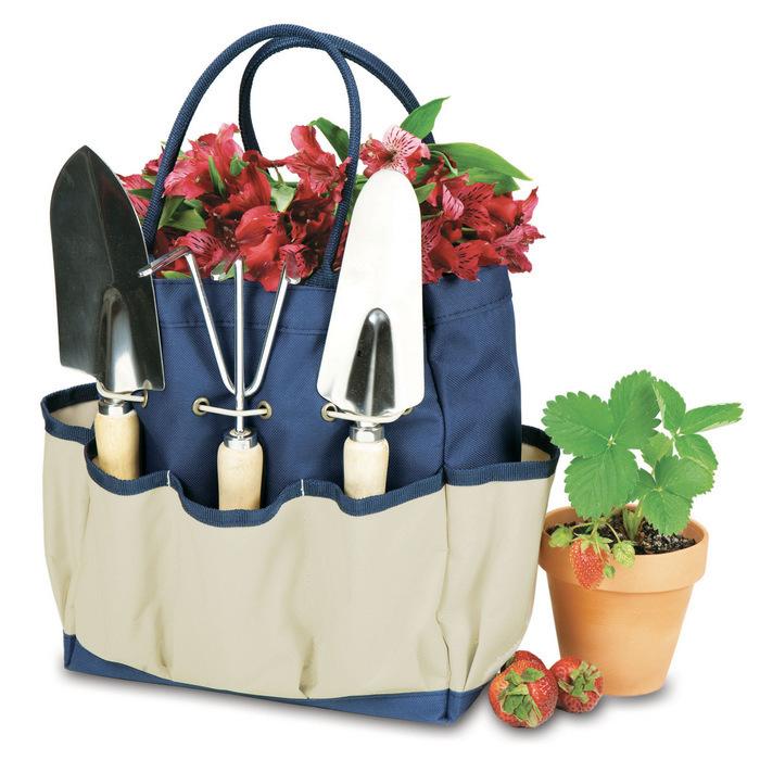 un sac organisateur pour les outils de jardinage, idée cadeau grand père relatif à ses intérêts