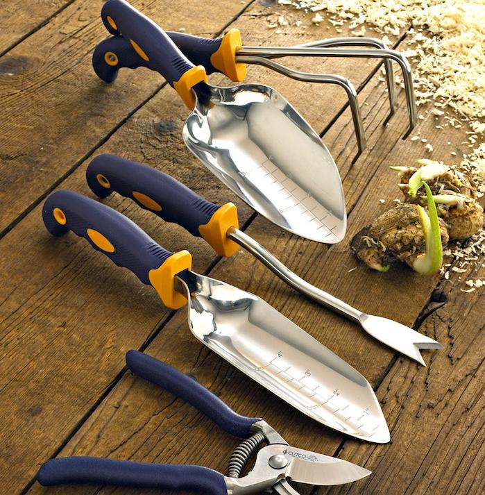 idée pour offrir un kit jardinage, fête des grands pères, idée de cadeau équipement jardinage