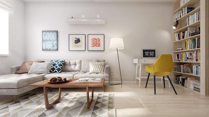salon scandinave style nordique aménagement séjour style suédois