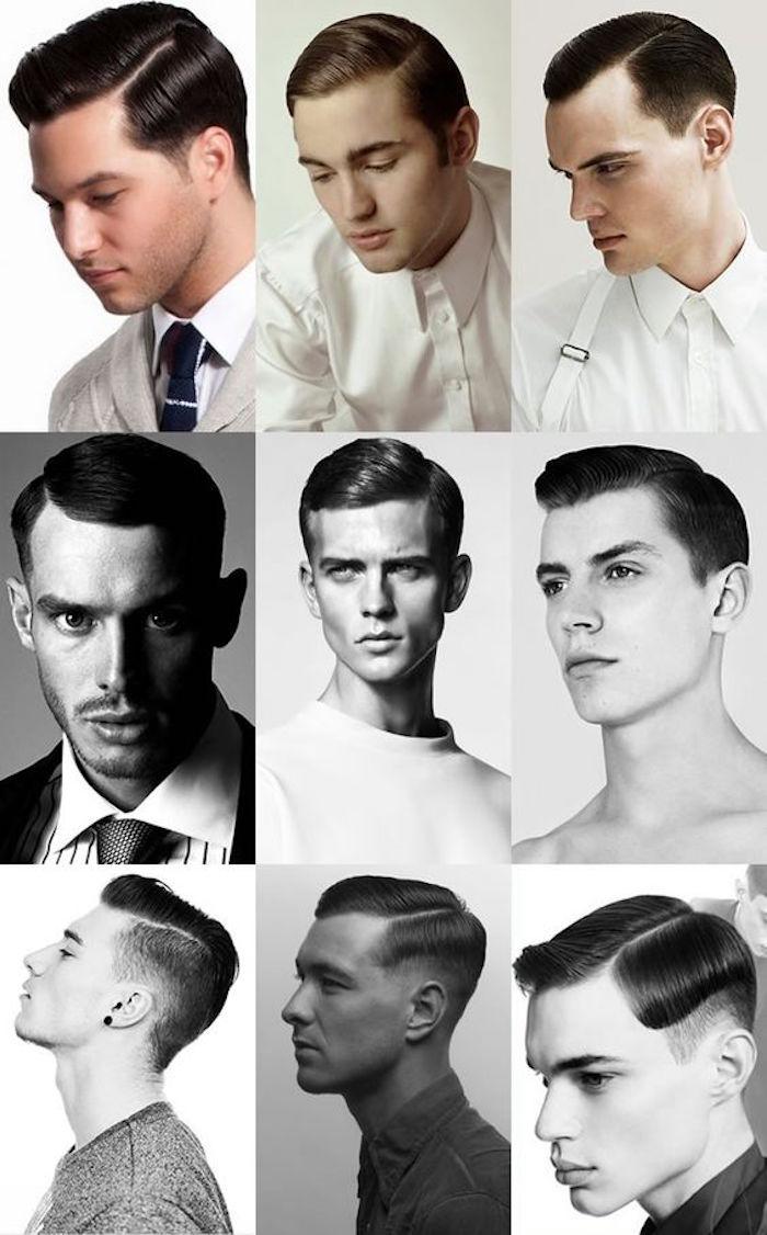 idées modèles coiffures homme à l ancienne style gatsby