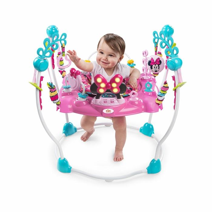 cadeau de naissance cadeau bébé fille en rose et bleu turquoise jeu d'éveil
