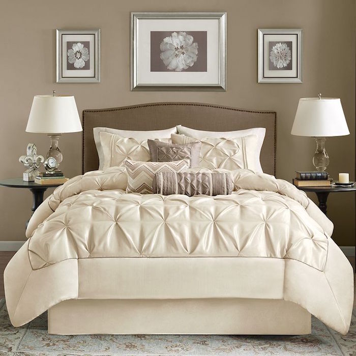 exemple de chambre blanc beige taupe adulte