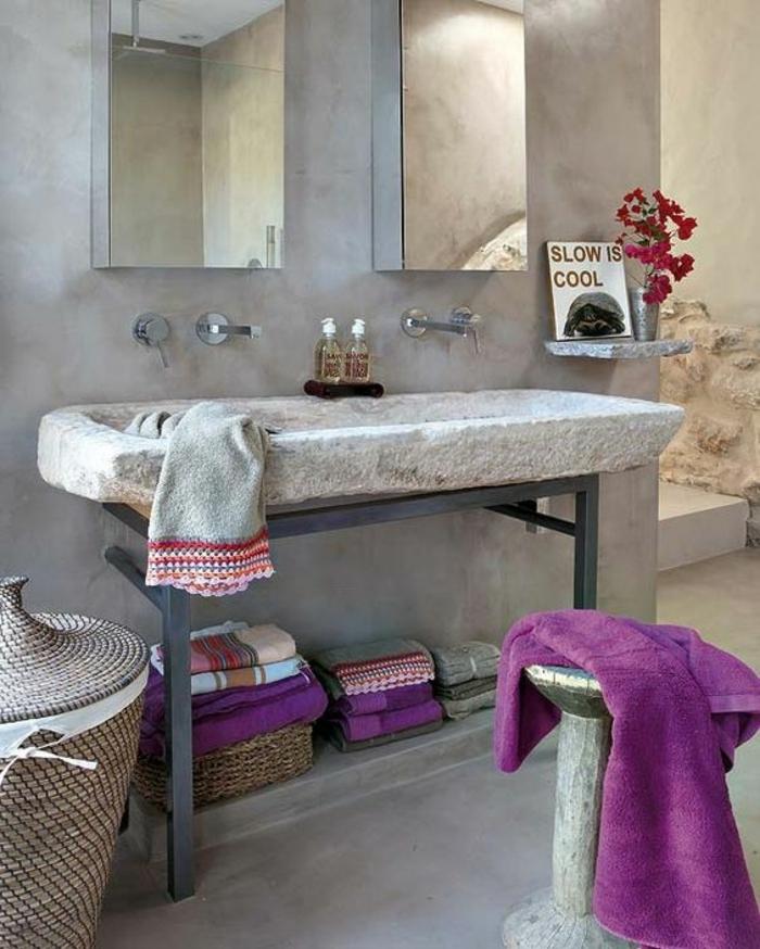 1001 id es pour cr er une salle de bain nature for Idee salle de bain grise