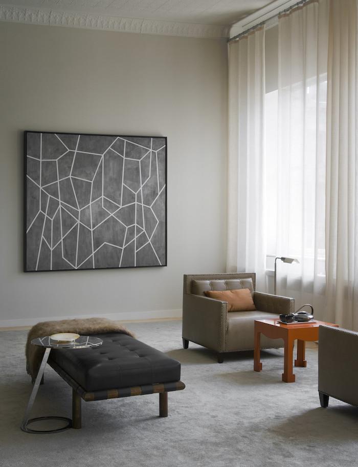 salon taupe design moderne style scandinave séjour nordique