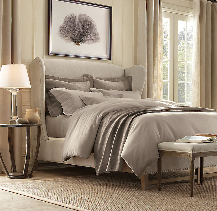 simple deco couleur chambre taupe et lin ou gris clair with deco chambre lin et taupe. Black Bedroom Furniture Sets. Home Design Ideas