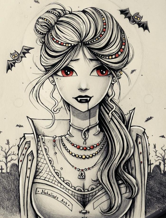 Formidable fille swag dessin de mode pour fille dessin pour ado fille animé cool vampires