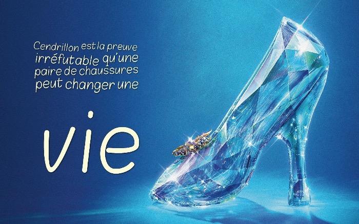 la blague du jour, photo chaussure à talon en cristal, illustration d'inspiration conte de fée avec phrase amusante
