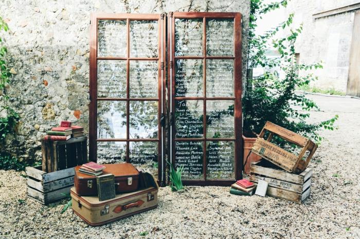 Superbe porte numéro de table mariage décoration de table vieux fenetre tables schema