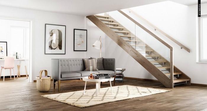 salon nordique avec deco scandinave minimaliste