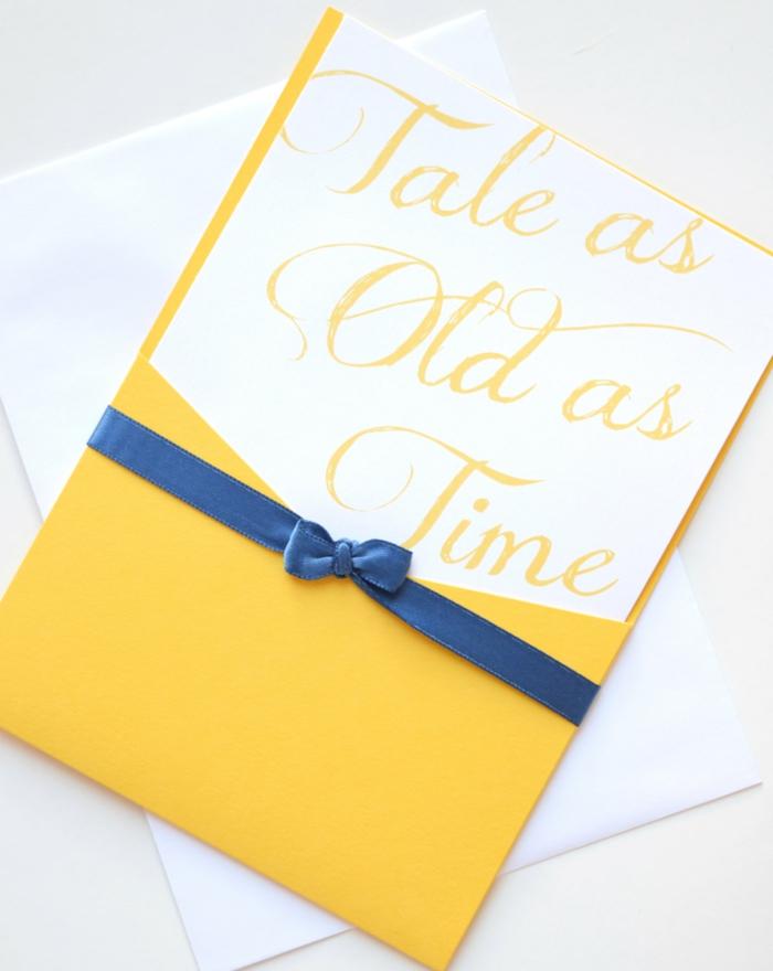 Disney faire part de mariage chic faire part mariage elegant couleurs disney belle