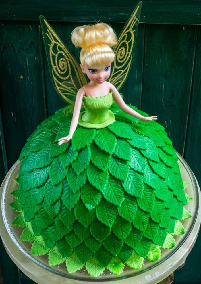 Gateau de princesse disney cake princesse gateau anniversaire chateau fort facile tinker bell idée poupee gateau