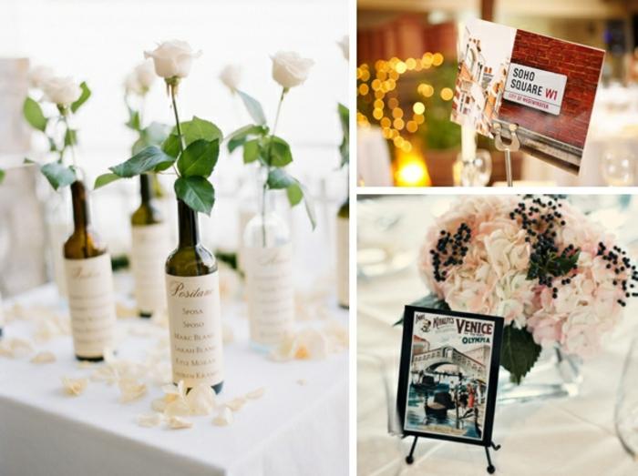 Ravissante idée marque place mariage idée table festive
