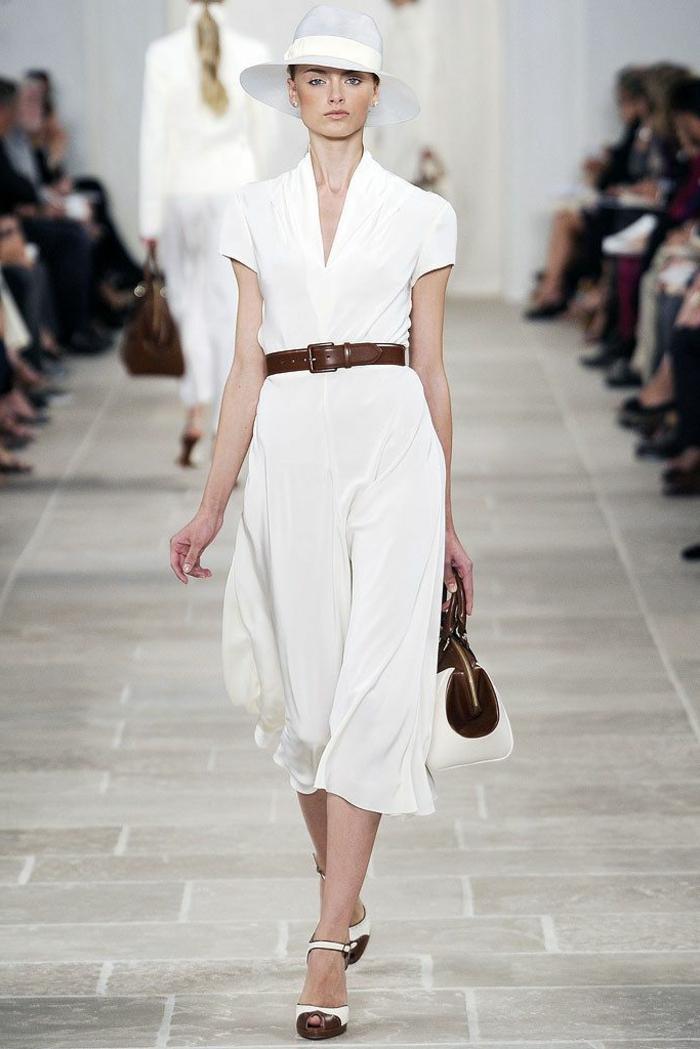 Idée robe chemisier saharienne femme robe chemise blanche chic idée de la collection yves saint lauren