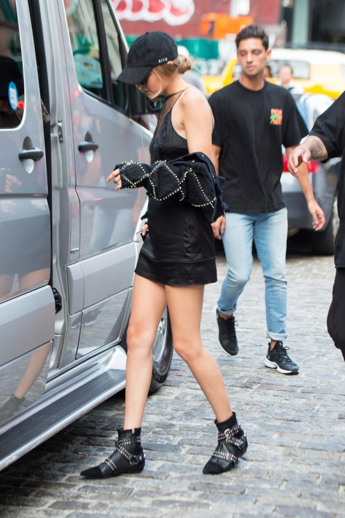 Pantalon camel femme avec quoi look bottines noires tendance automne 2017 mode