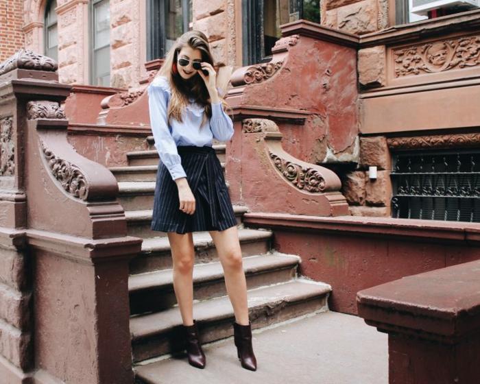 Magnifique idée tenue bottine a talon epais que mettre avec un jean noir