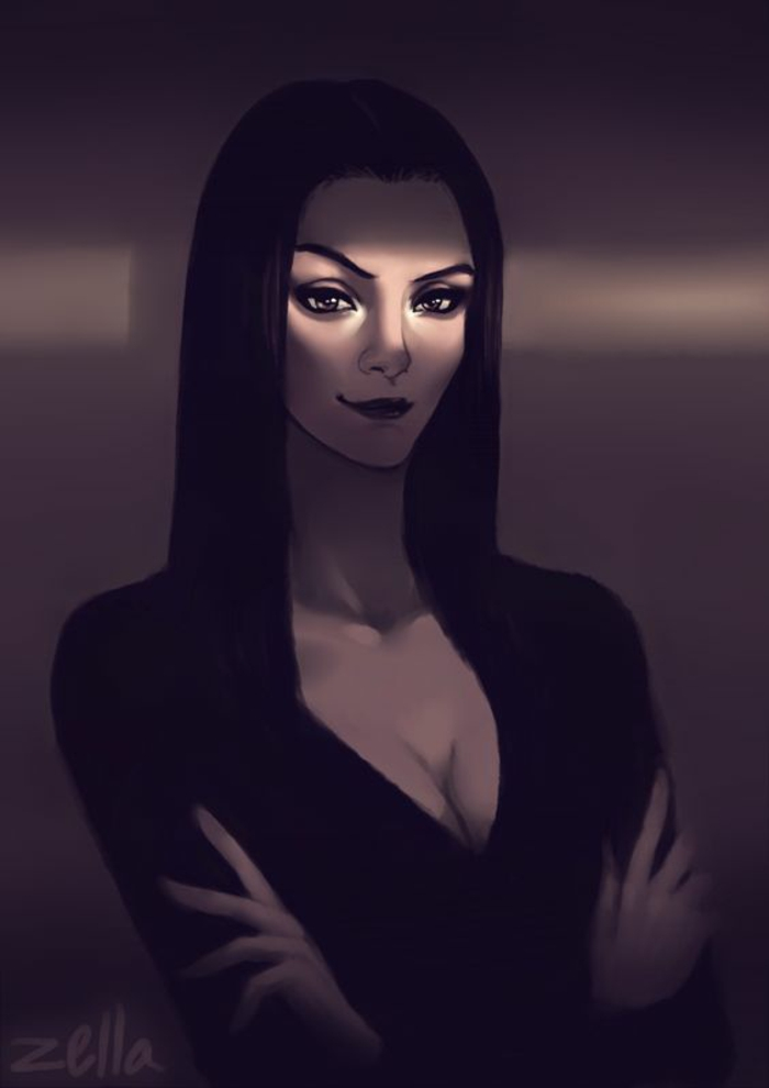 Addams family names morticia addams family values morticia peinture