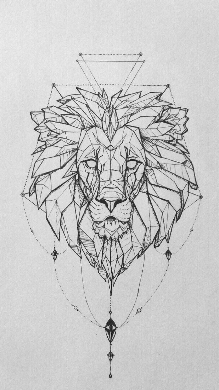 Tete De Lionne Dessin