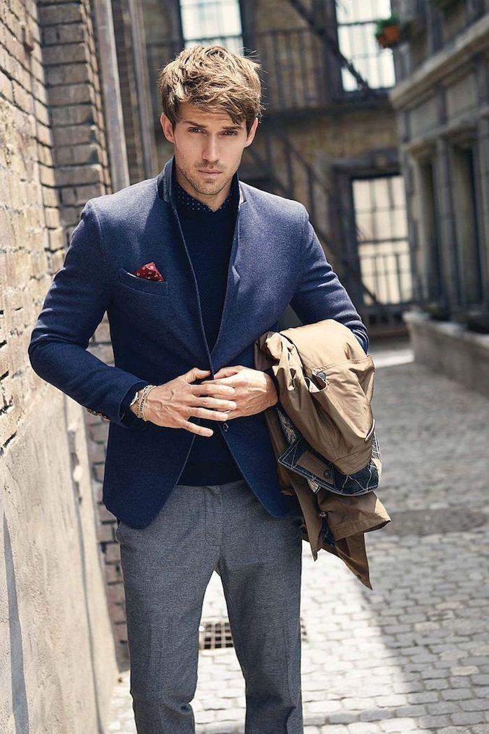 style vestimentaire homme, coiffure moderne avec hauteur pour homme