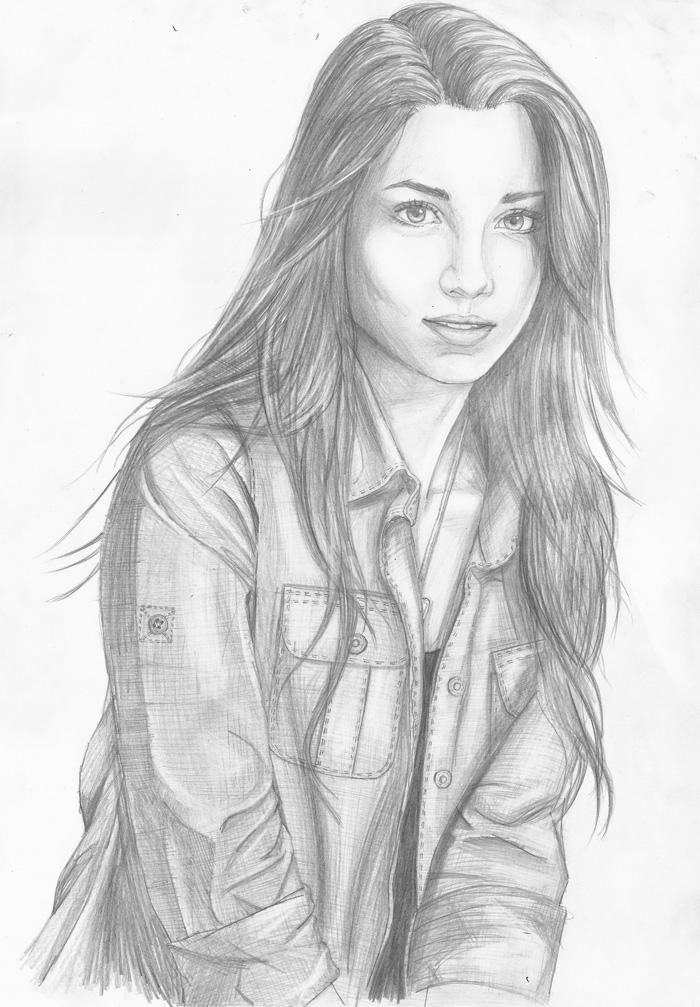 Un dessin de petite fille visage de fille a dessiner dessin de fille de mode